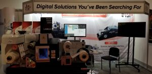 Graphics Canada Booth Showcasing Digital Printing and Cutting Solutions